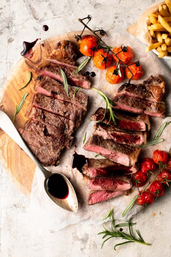 The 40 BEST Steak Recipes - New York strip with balsamic reduction.
