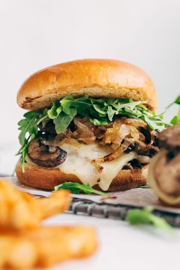 45 BEST Ground Beef Recipes - mushroom swiss burger.