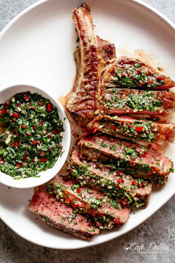 The 40 BEST Steak Recipes - chimichurri.