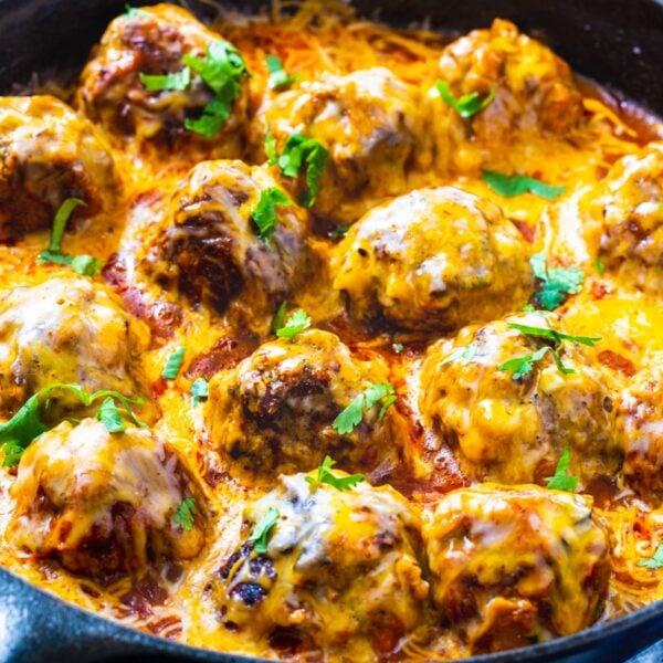 The 45+ BEST Meatball Recipes - Tex Mex meatballs.