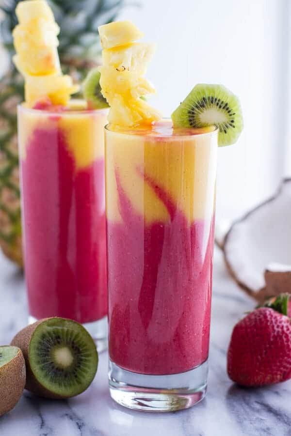 The 35 BEST Smoothie Recipes - tropical fruit.