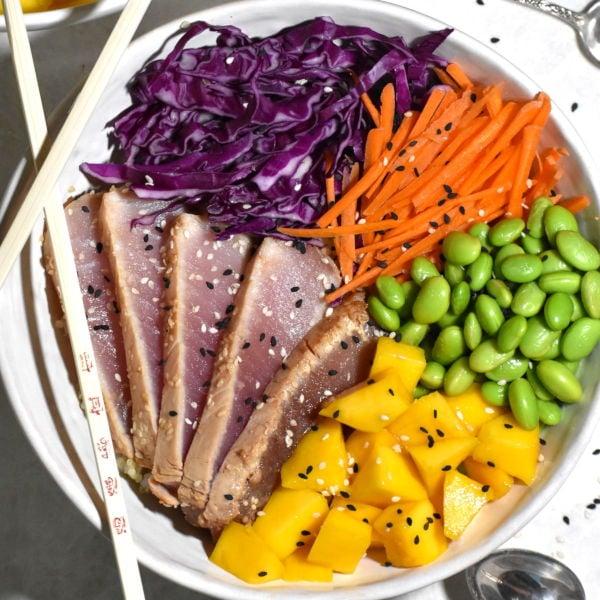 Albacore Tuna Tataki Bowl