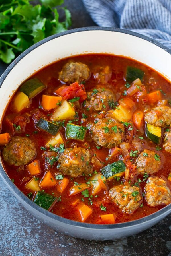 45 BEST Ground Beef Recipes - albondingas soup.