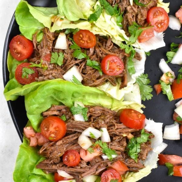 Barbacoa Beef Lettuce Wraps