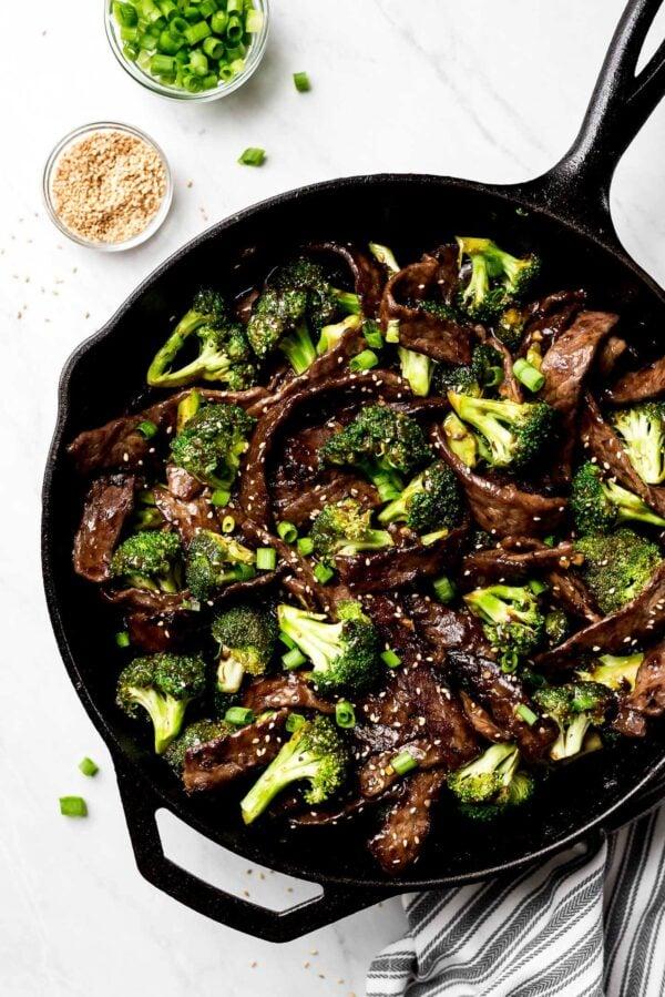 Beef and broccoli.