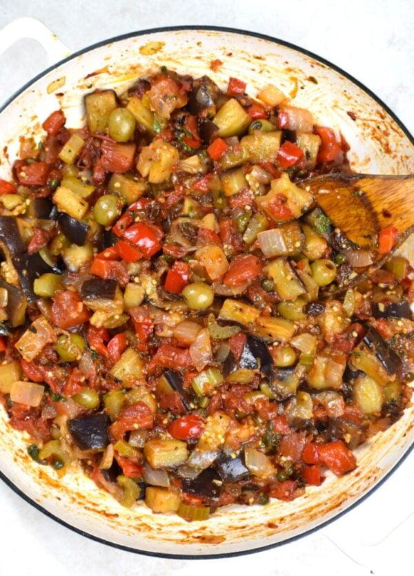 35 BEST Eggplant Recipes - caponata.