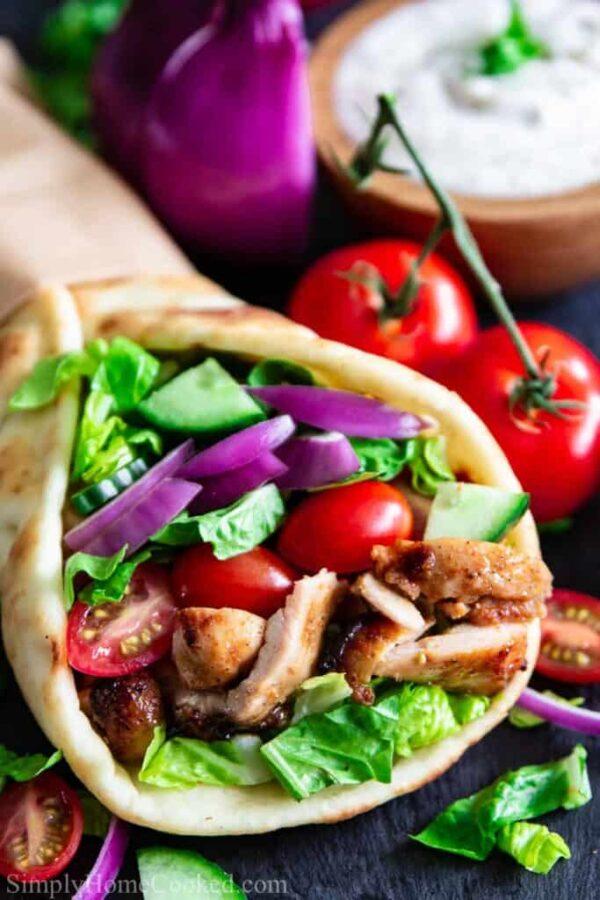 The 35 BEST Pita Recipes - chicken shawarma.