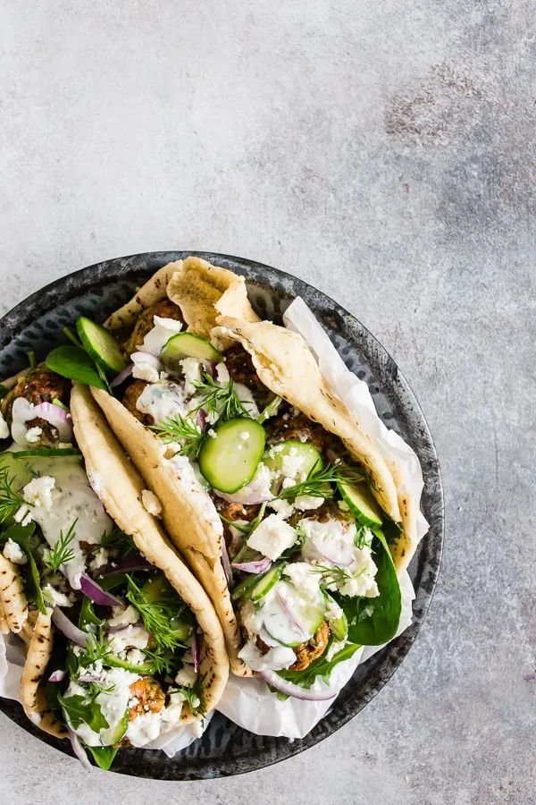 The 35 BEST Pita Recipes - chicken meatball gyros.