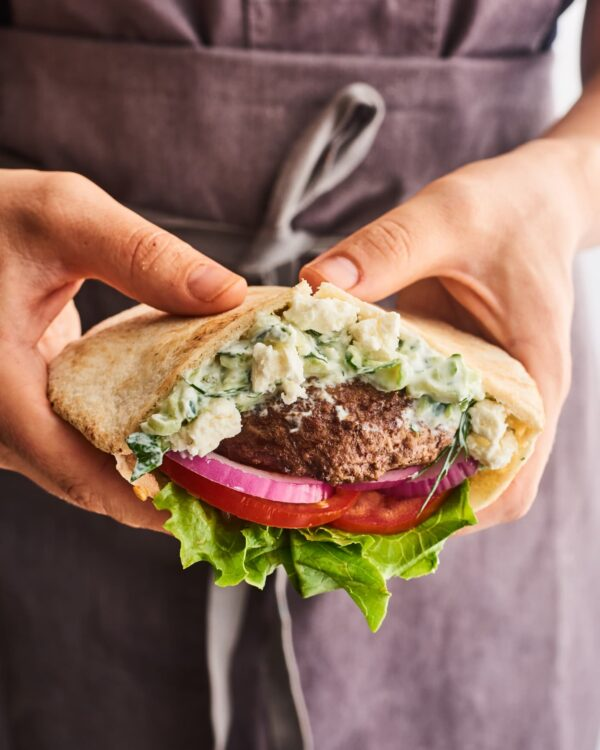 The 35 BEST Pita Recipes - lamb burgers.