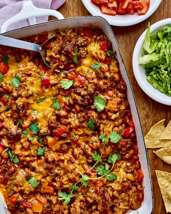 45 BEST Ground Beef Recipes - taco casserole.