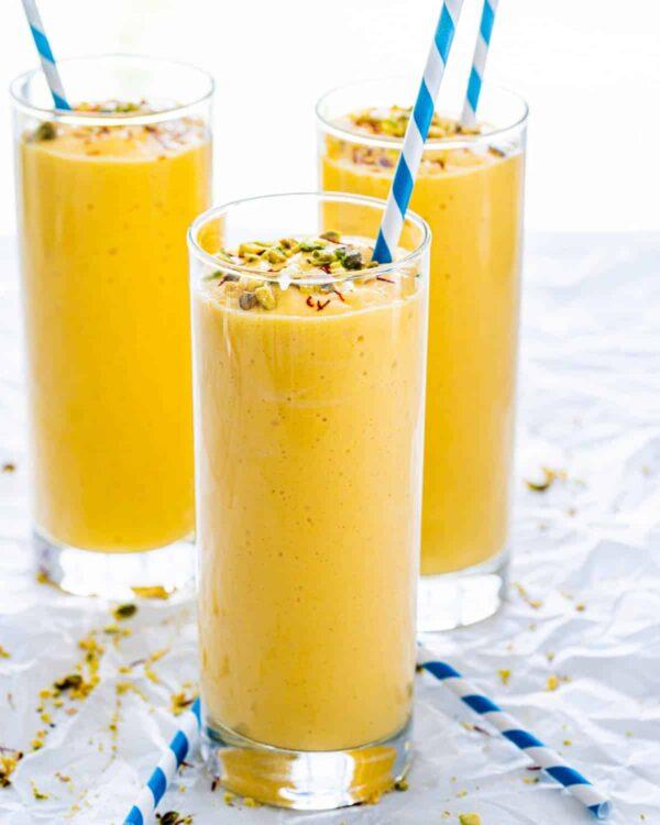 The 35 BEST Smoothie Recipes - mango lassi.