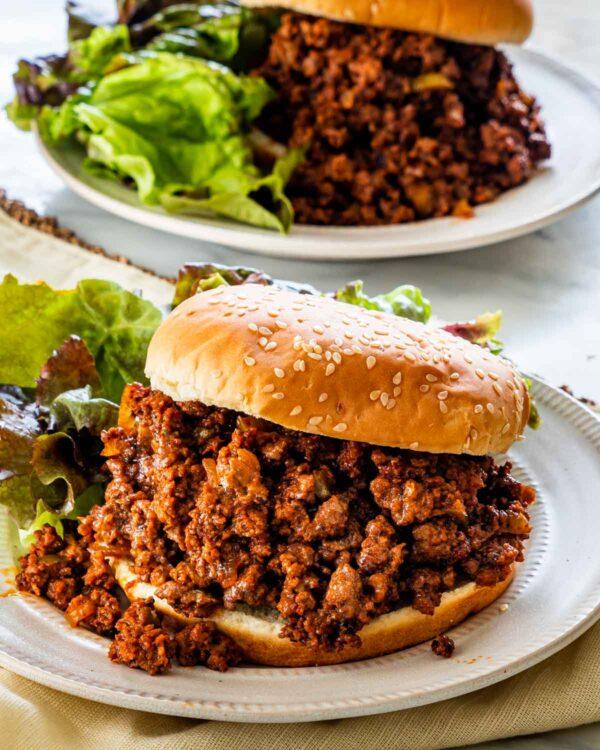 45 BEST Ground Beef Recipes - sloppy Joe.