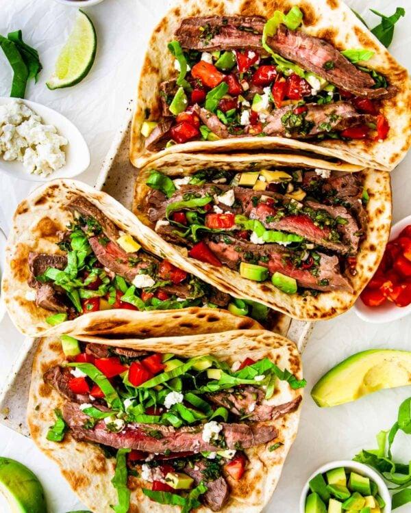 The 40 BEST Steak Recipes - steak tacos.