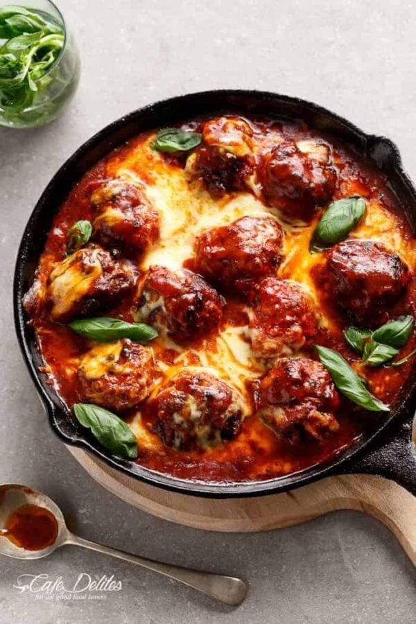 Sundried Tomato Cheesy Meatbals.