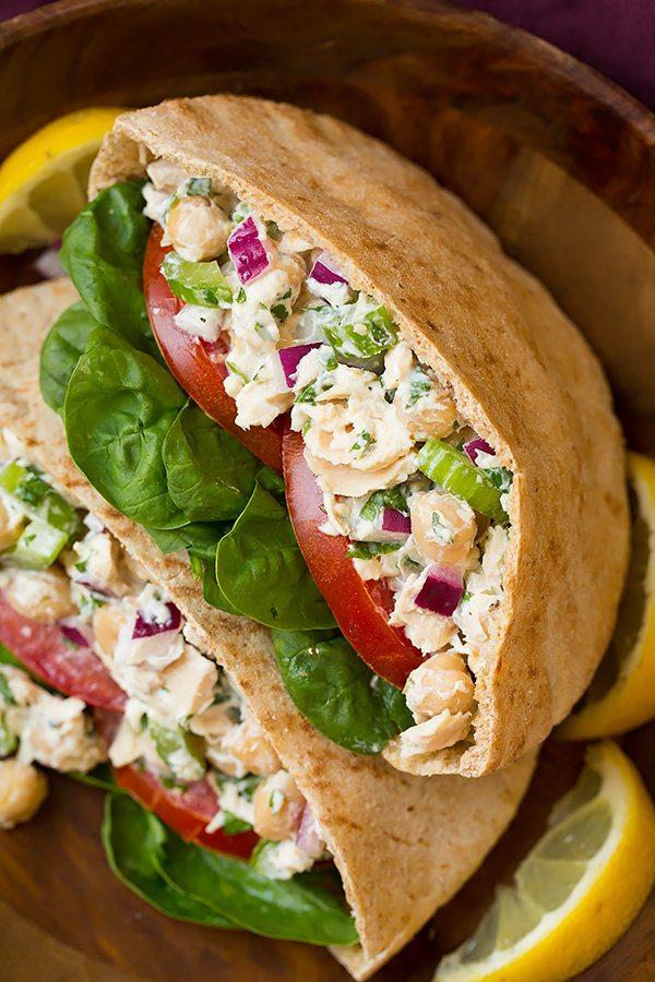The 35 BEST Pita Recipes - tuna and chickpea pita pockets.
