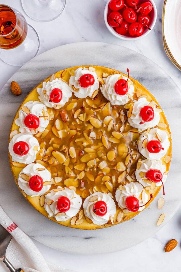 The 35 BEST Cheesecake Recipes - almond amaretto.