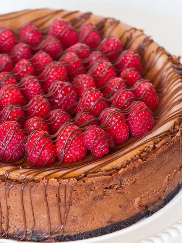 The 35 BEST Cheesecake Recipes - chocolate caramel raspberry.
