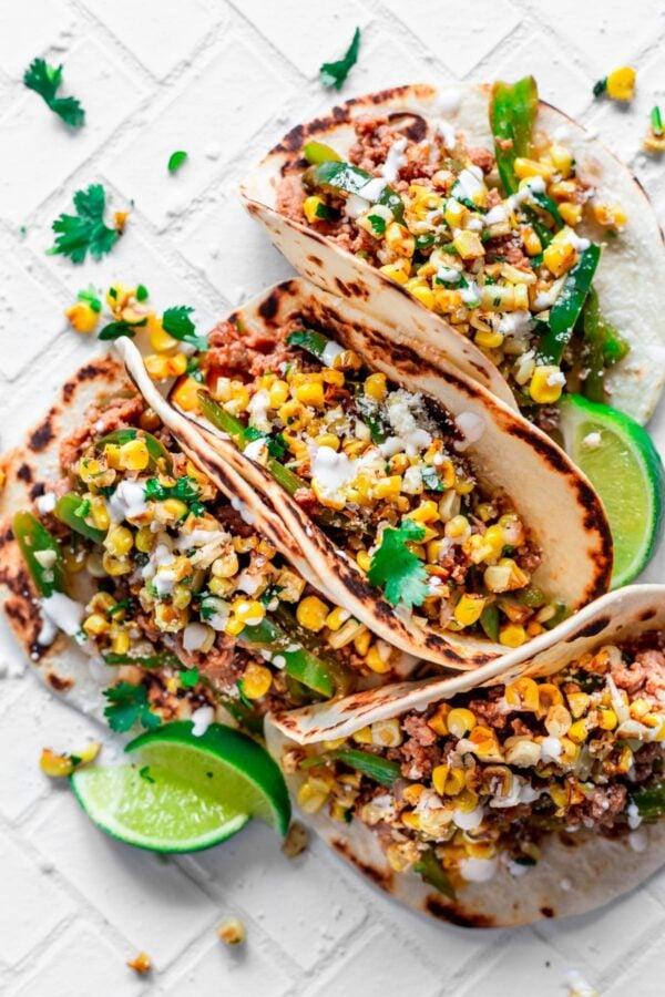 The 35 BEST Ground Pork Recipes - chimichurri tacos.