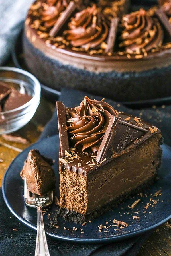 The 35 BEST Cheesecake Recipes - dark chocolate.