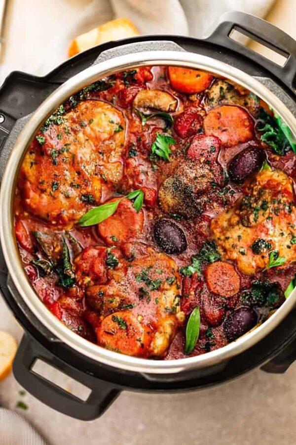 The 35 BEST Instant Pot Recipes - chicken cacciatore.