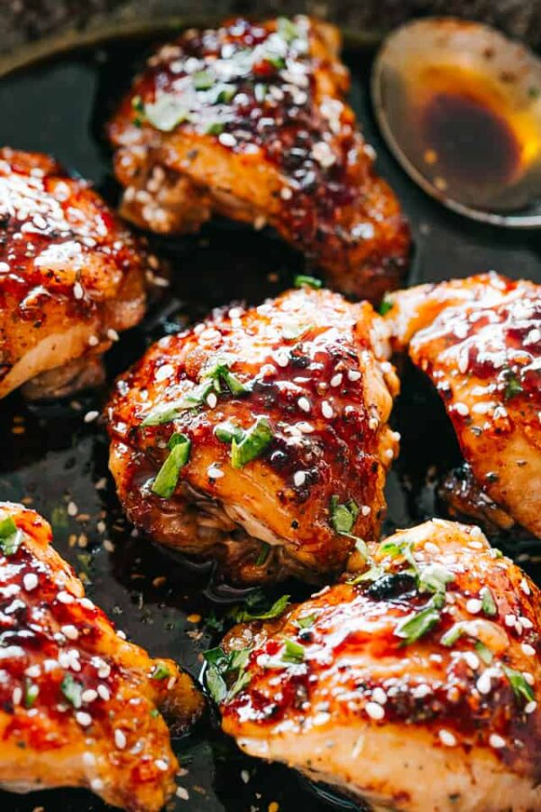 The 35 BEST Instant Pot Recipes - sticky chicken thighs.
