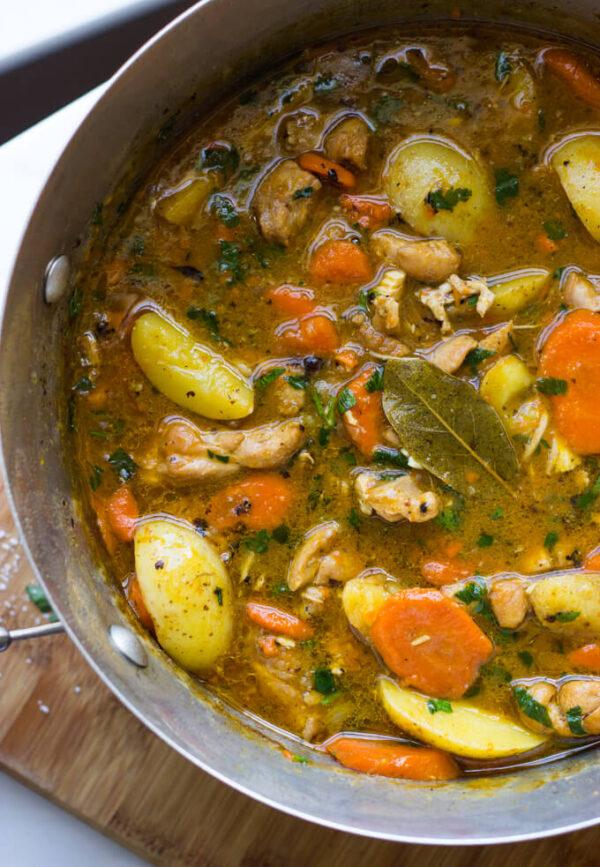 The 30 BEST One Pot Meals - chicken stew.