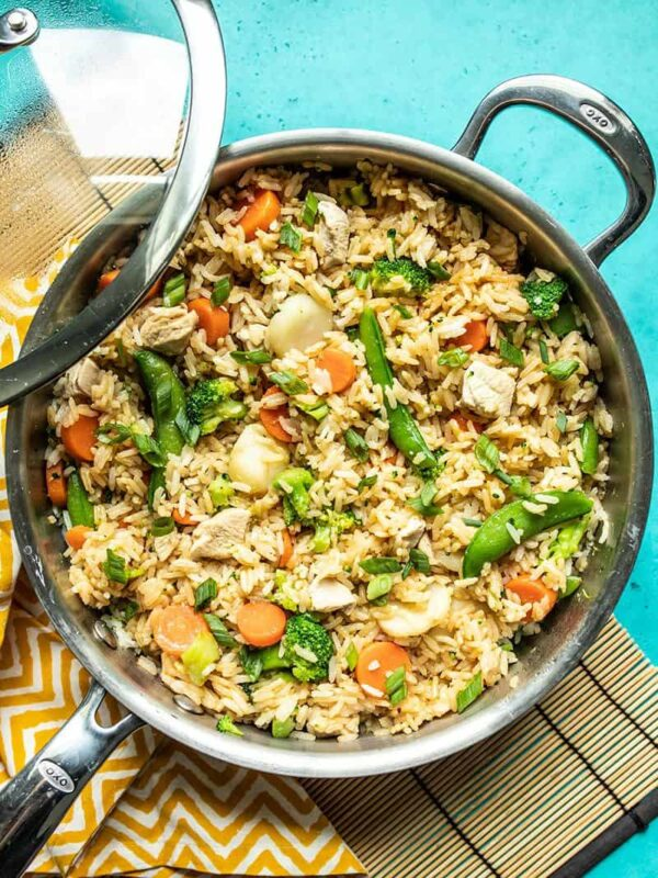 The 30 BEST One Pot Meals - teriyaki chicken and rice.