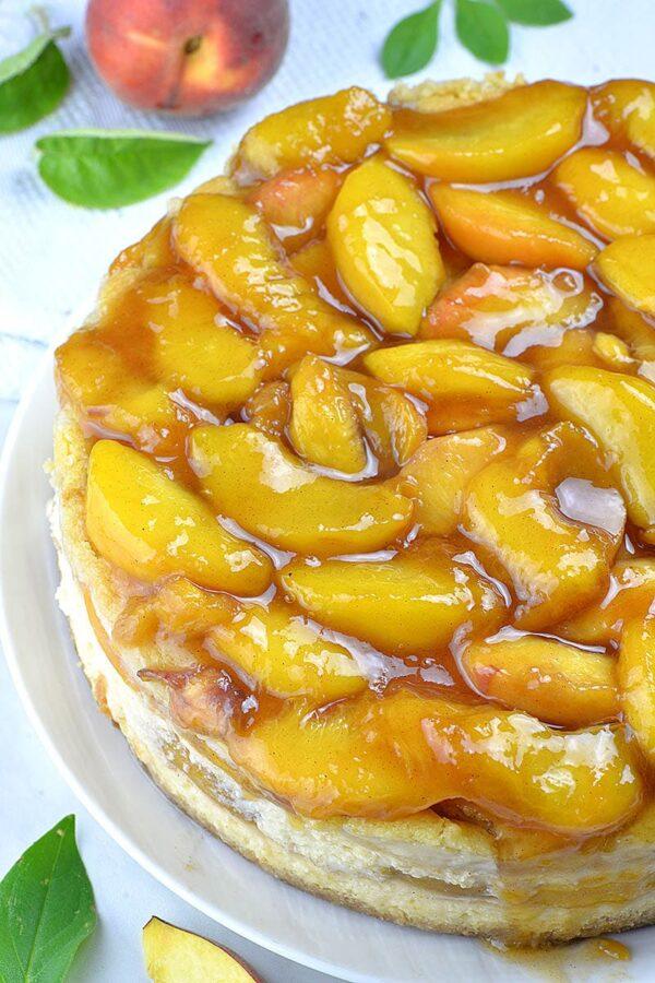 The 35 BEST Cheesecake Recipes - peach cobbler.