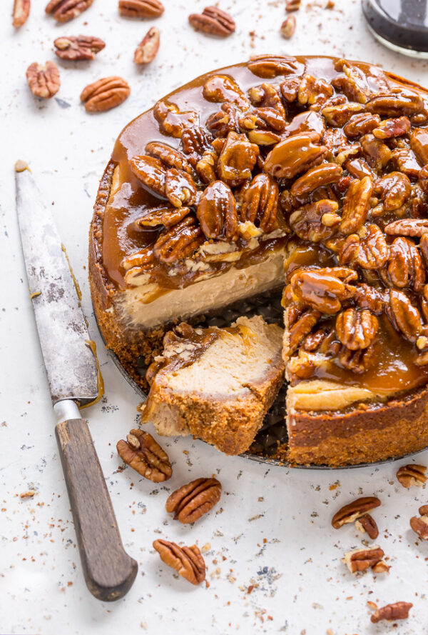The 35 BEST Cheesecake Recipes - pecan pie.