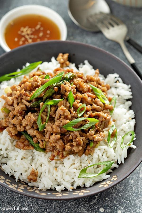 The 35 BEST Ground Pork Recipes - Szechuan stir fry.