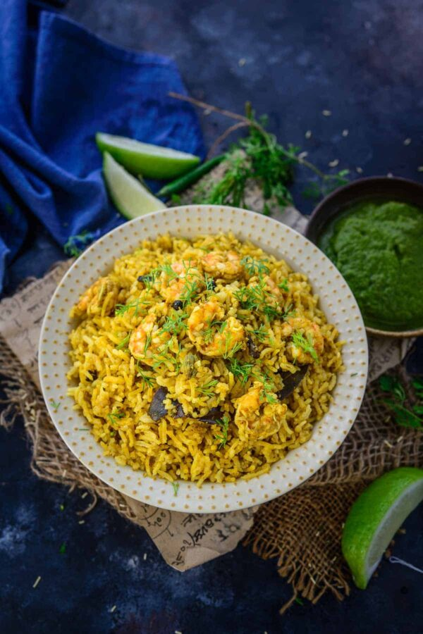 The 30 BEST One Pot Meals - prawn pulao.