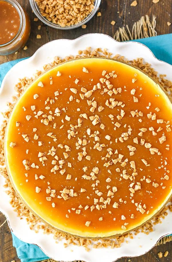 The 35 BEST Cheesecake Recipes - salted caramel.