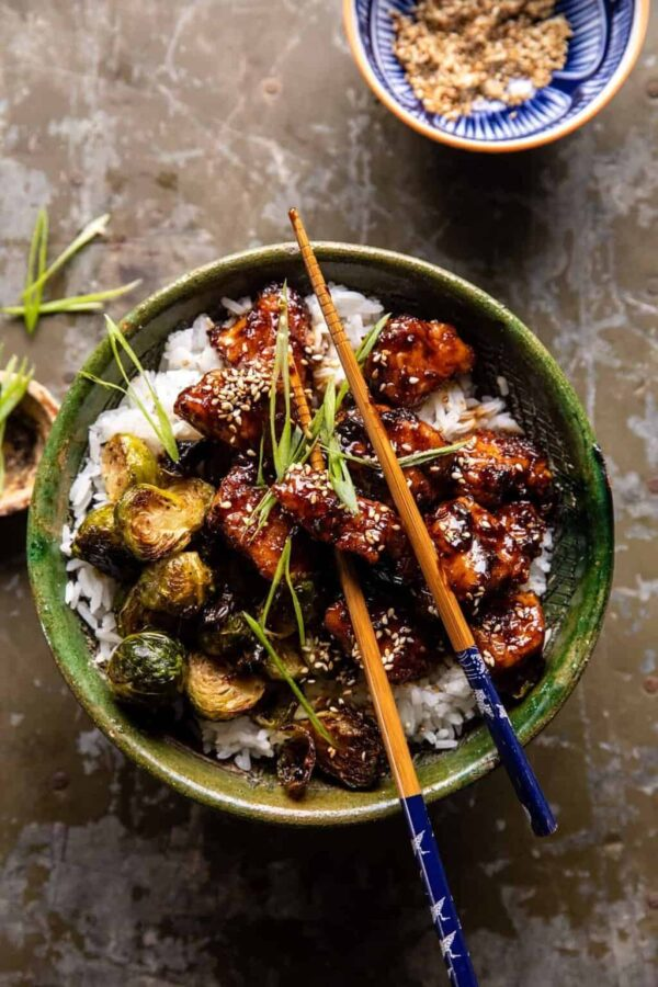 The 25 BEST Brussels Sprout Recipes - ginger chicken with sprouts.