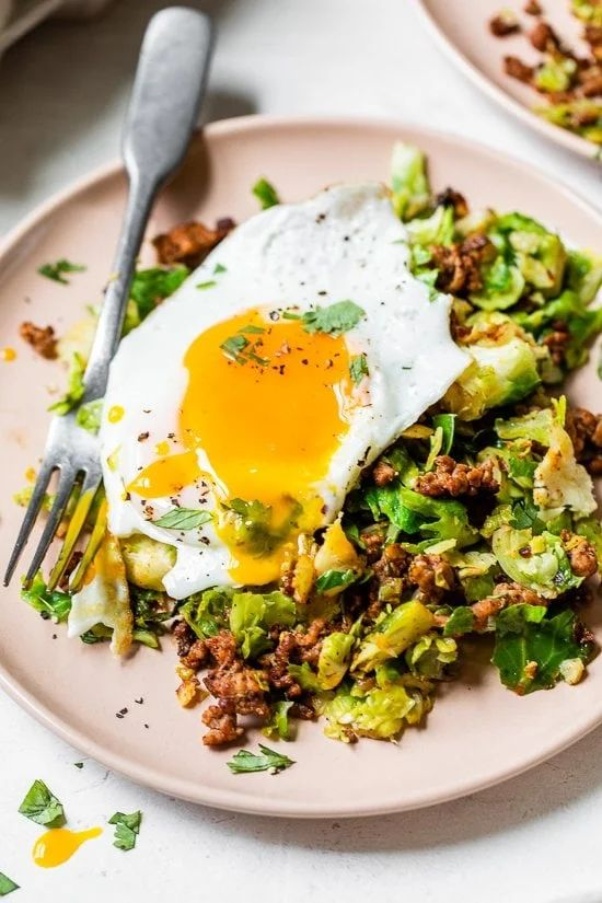The 25 BEST Brussels Sprout Recipes - pork brussels bowls.