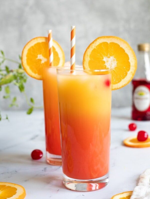 The 30 BEST Mocktail Recipes - tequila sunrise.