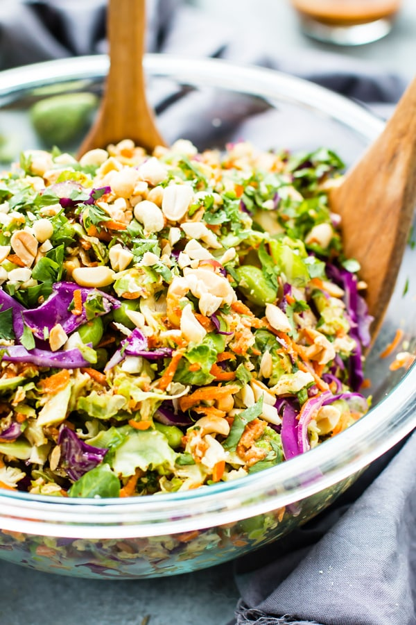 The 25 BEST Brussels Sprout Recipes - Thai salad.