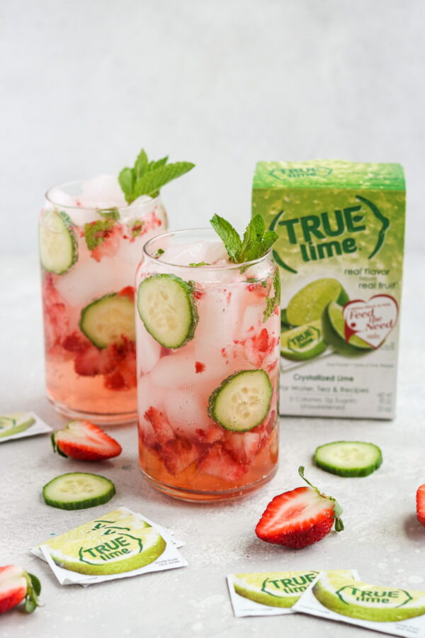 The 30 BEST Mocktail Recipes - strawberry cucumber mojito.