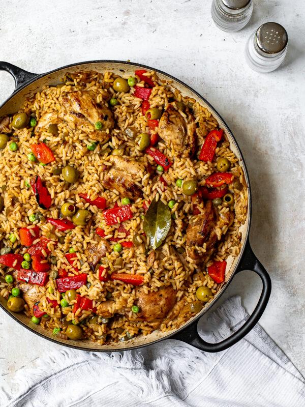 The 30 BEST One Pot Meals - arroz con pollo.