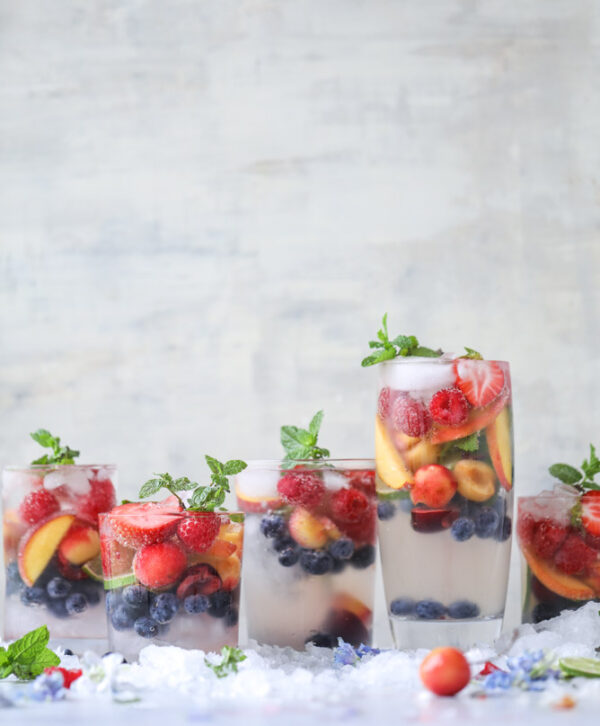 The 30 BEST Mocktail Recipes - rainbow coconut water.