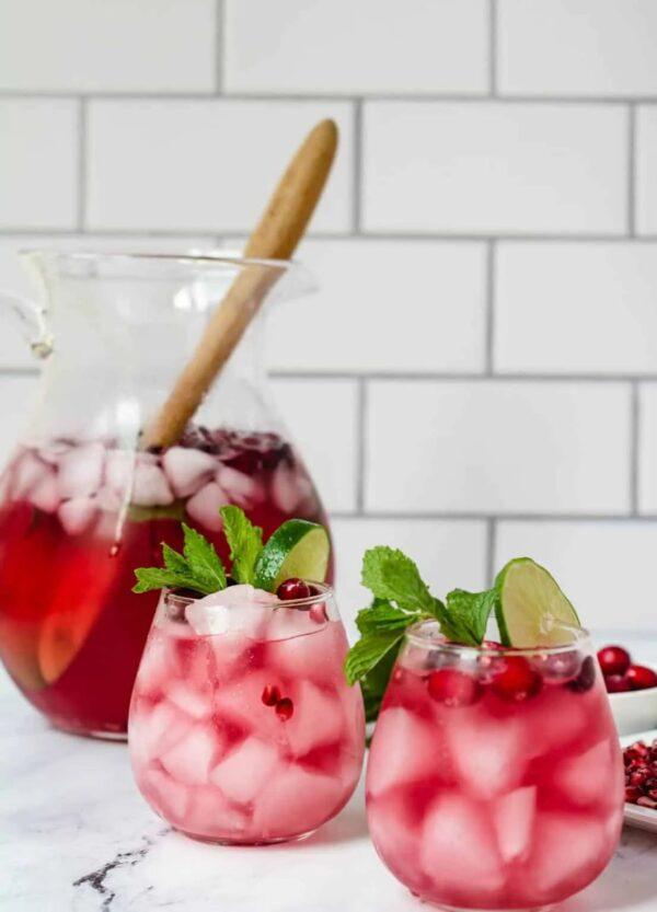 The 30 BEST Mocktail Recipes - cranberry pomegranate.