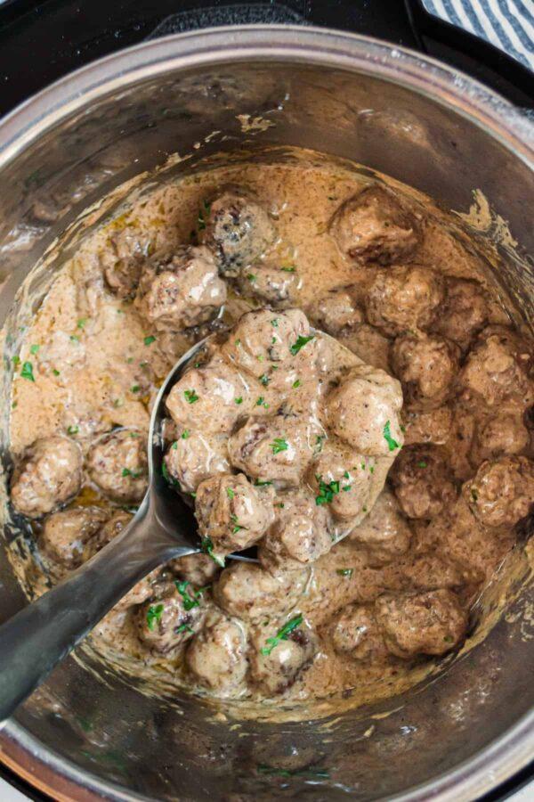 The 35 BEST Instant Pot Recipes - Swedish meatballs.