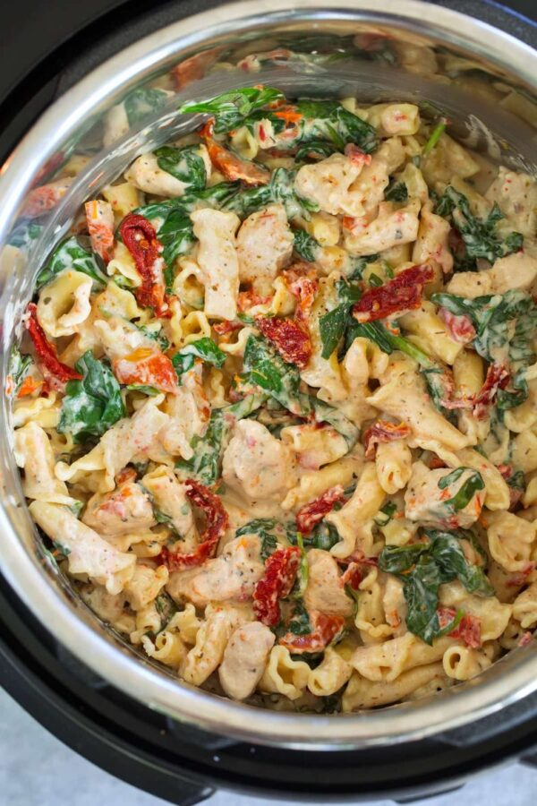 The 35 BEST Instant Pot Recipes - Tuscan chicken pasta.