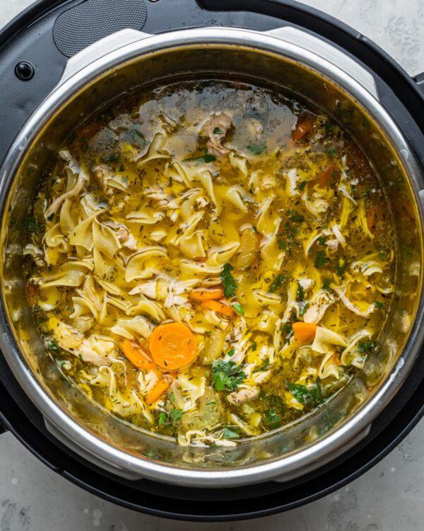 The 35 BEST Instant Pot Recipes - chicken noodle soup.