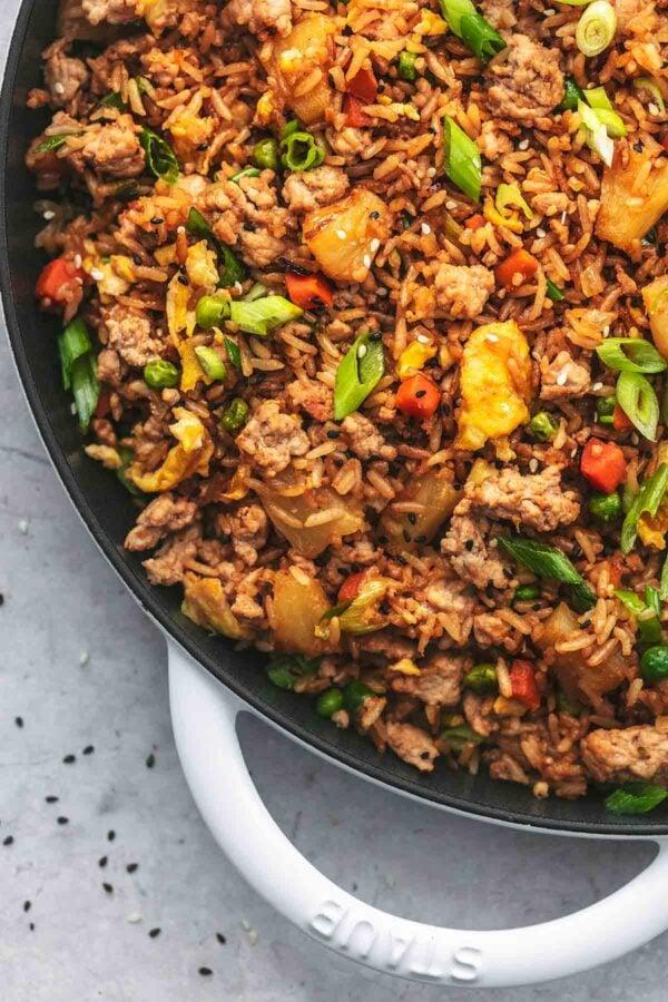 The 35 BEST Ground Pork Recipes - fried rice.