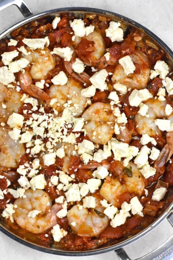 Crumbled feta cheese added on top.