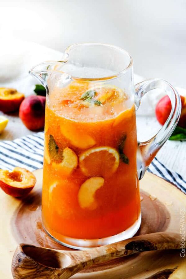 The 30 BEST Mocktail Recipes - peach punch.