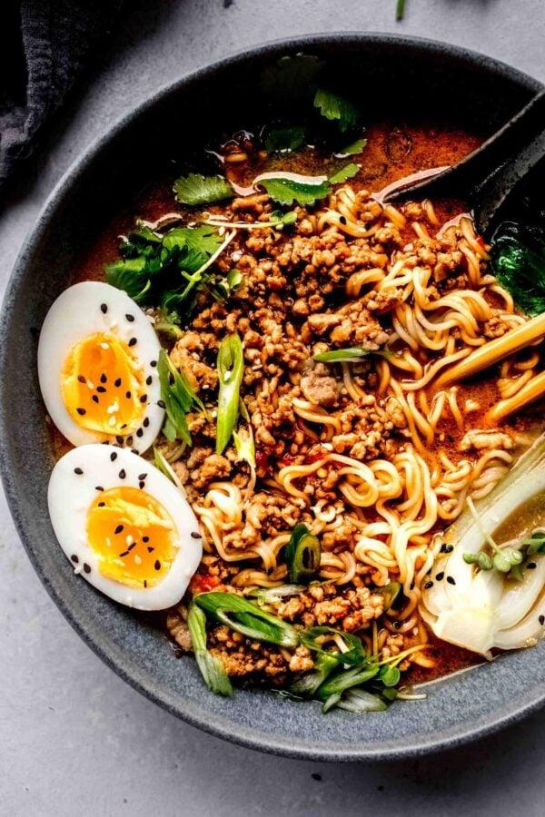 The 35 BEST Ground Pork Recipes - dan dan noodles.