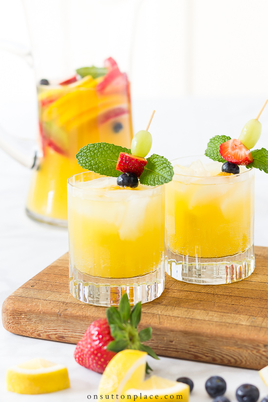 The 30 BEST Mocktail Recipes - white sangria.