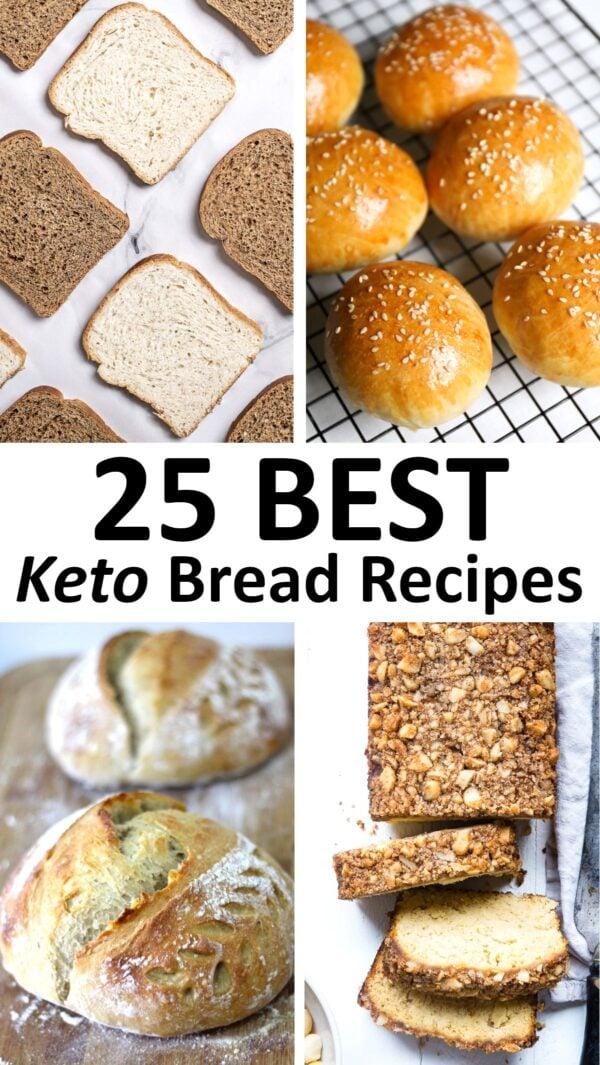 The 25 BEST Keto Bread Recipes.