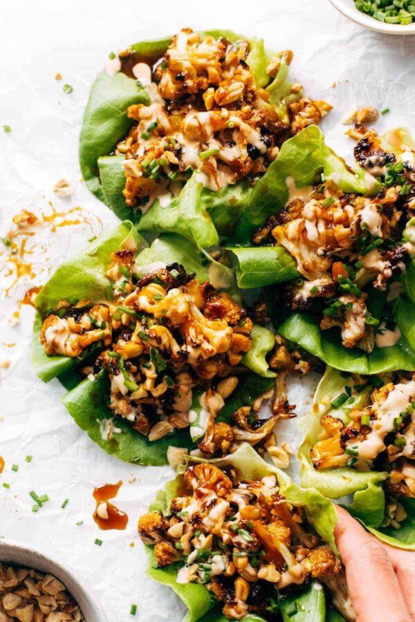 The 35 BEST Cauliflower Recipes - lettuce wraps.
